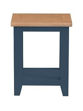 Save £10 at Very on Julian Bowen Richmond Ready Assembled Lamp Table - Midnight Blue