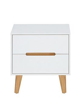 Save £11 at Very on Julian Bowen Alicia 2 Drawer Bedside Chest