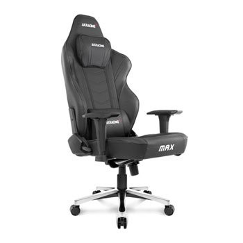 Save £180 at Scan on AKRacing Masters Series MAX BLACK Gaming Chair