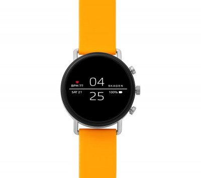 Save £90 at Currys on SKAGEN Falster 2 Smartwatch - Yellow, Silicone Strap, Yellow
