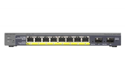 Save £16 at Ebuyer on Netgear ProSafe 8x10/100/1000 SM GB Switch PoE - GS110TP-200EUS