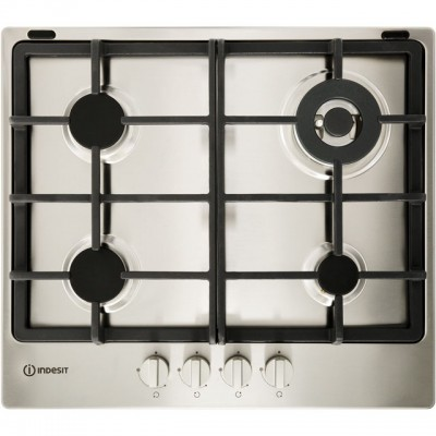 Save £32 at AO on Indesit Aria THP641W/IX/I 58cm Gas Hob - Stainless Steel