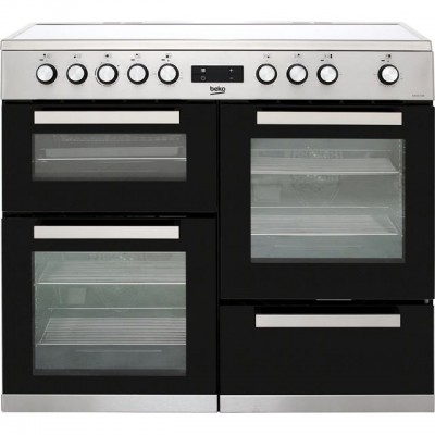 Save £100 at AO on Beko KDVC100X 100cm Electric Range Cooker with Ceramic Hob - Stainless Steel - A/A Rated