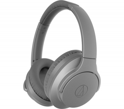 Save £49 at Currys on AUDIO TECHNICA QuietPoint ATH-ANC700BT Wireless Bluetooth Noise-Cancelling Headphones - Grey, Grey