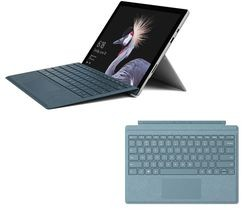Save £300 at Currys on MICROSOFT Surface Pro & Typecover Bundle - 128 GB, Aqua