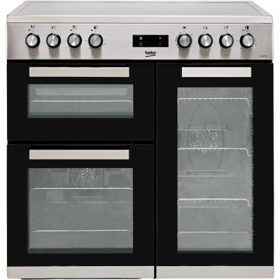 Save £90 at AO on Beko KDVC90X 90cm Electric Range Cooker with Ceramic Hob - Stainless Steel - A/A Rated