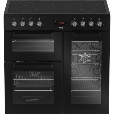Save £80 at AO on Beko KDVC90K 90cm Electric Range Cooker with Ceramic Hob - Black - A/A Rated