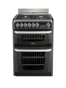Save £50 at Very on Cannon By Hotpoint Ch60Gcik 60Cm Double Oven Gas Cooker And Gas Hob With Fsd - Black