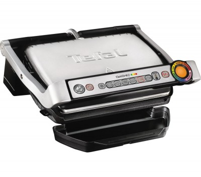 Save £24 at Currys on TEFAL OptiGrill+ GC713D40 Health Grill - Stainless Steel, Stainless Steel
