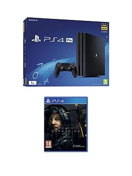 Save £40 at Very on Playstation 4 Ps4 Black Pro Bundle With Death Stranding And Optional Extras - + 50 Psn Wallet Top Up