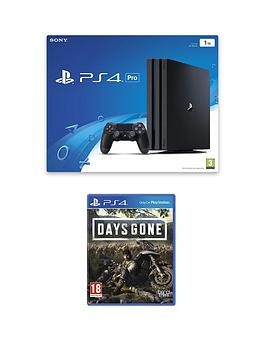 Save £40 at Very on Playstation 4 Pro Ps4 Black Pro Bundle With Days Gone And Optional Extras - + Additional Dualshock Controller