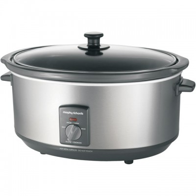 Save £5 at AO on Morphy Richards 48718 6.5 Litre Slow Cooker - Brushed Stainless Steel