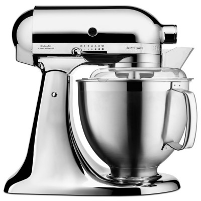 Save £130 at Appliance City on KitchenAid 5KSM185PSBCR 185 Artisan Stand Mixer 4.8 Litre - CHROME