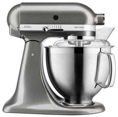 Save £80 at Appliance City on KitchenAid 5KSM185PSBMS 185 Artisan Stand Mixer 4.8 Litre - MEDALLION SILVER