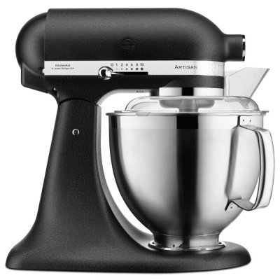 Save £80 at Appliance City on KitchenAid 5KSM185PSBBK 185 Artisan Stand Mixer 4.8 Litre - CAST IRON BLACK