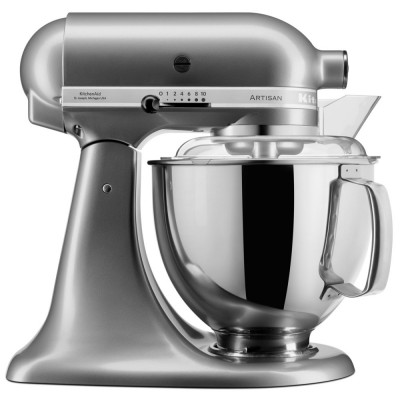 Save £50 at Appliance City on KitchenAid 5KSM175PSBCU 175 Artisan Stand Mixer 4.8 Litre - CONTOUR SILVER