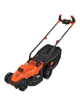 Save £24 at Very on Black & Decker 1400W 34 Cm Lawnmower With Bike Handle Controls