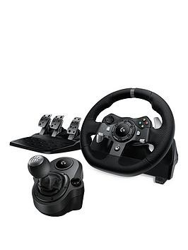 Save £100 at Very on Logitech G920 Driving Force Racing Wheel With Pedals And Force Shifter For Xbox  Pc