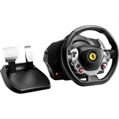 Save £45 at AO on Thrustmaster TX Ferrari F458 Italia Edition Steering Wheel & Pedals - Black