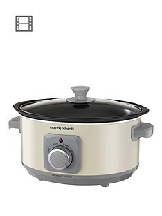 Save £4 at Very on Morphy Richards Evoke 3.5-Litre Manual Slow Cooker - Cream