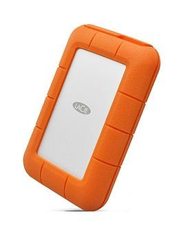 Save £30 at Very on Lacie Lacie 4Tb Rugged Thunderbolt Shock  Drop Resistance Portable External Hard Drive For Pc  Mac