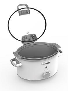 Save £15 at Very on Crock-Pot Hinged Lid Saute Slow Cooker with DuraCeramic CSC038 - White