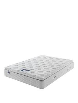 Save £100 at Very on Silentnight Miracoil Sprung Tuscany Geltex Pillowtop Mattress - Medium/Firm