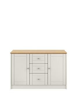 Save £30 at Very on Alderley Large Ready Assembled Sideboard - Grey/Oak Effect