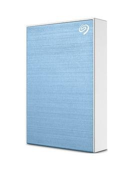 Save £15 at Very on Seagate Seagate 4Tb Backup Plus Slim Portable Hard Drive - Light Blue