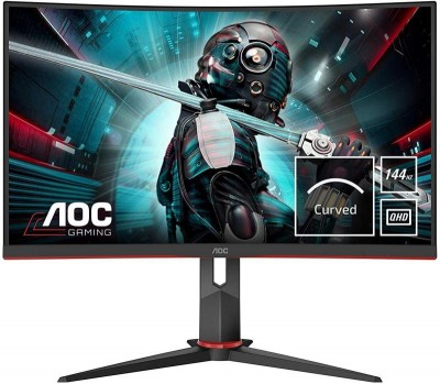 Save £30 at Ebuyer on AOC CQ27G2U/BK 27'' LED Curved Gaming Monitor