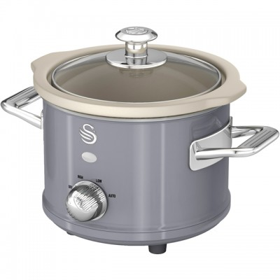 Save £5 at AO on Swan Retro SF17011GRN 1.5 Litre Slow Cooker - Grey