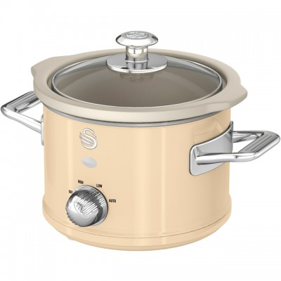 Save £5 at AO on Swan Retro SF17011CN 1.5 Litre Slow Cooker - Cream