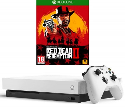 Save £80 at Currys on MICROSOFT?Xbox One X White with Red Dead Redemption 2, White