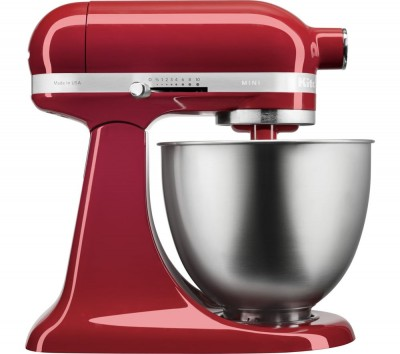 Save £50 at Currys on Artisan Mini 5KSM3311XBER Stand Mixer - Empire Red, Red