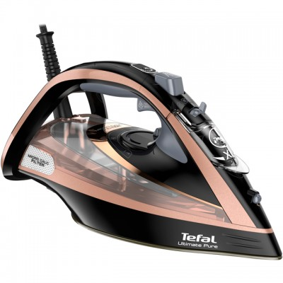 Save £51 at AO on Tefal Ultimate Pure FV9845 3100 Watt Iron -Black / Rose Gold