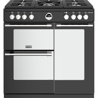 Save £210 at AO on Stoves Sterling S900G 90cm Gas Range Cooker with Electric Fan Oven - Black - A/A Rated