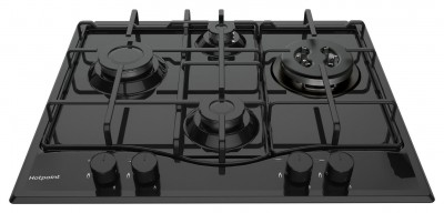 Save £100 at Argos on Hotpoint PCN642THBK Cast Iron Support Gas Hob - Black