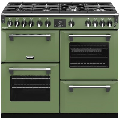 Save £300 at AO on Stoves Colour Boutique Collection Richmond Deluxe S1000G CB 100cm Gas Range Cooker with Electric Grill - Soho Green - A+/A/A Rated