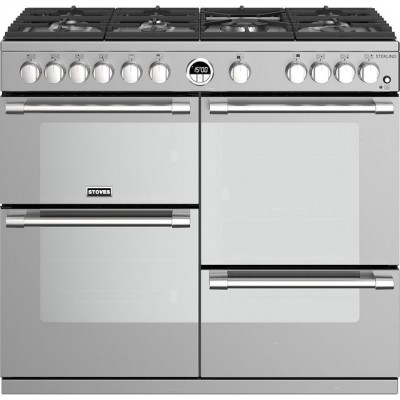 Save £200 at AO on Stoves Sterling S1000G 100cm Gas Range Cooker with Electric Grill - Stainless Steel - A/A/A+ Rated
