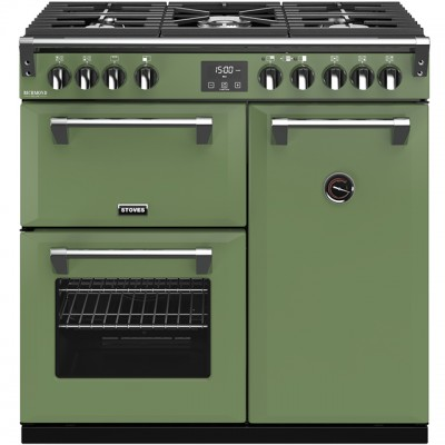 Save £270 at AO on Stoves Colour Boutique Collection Richmond Deluxe S900G CB 90cm Gas Range Cooker - Soho Green - A/A/A Rated