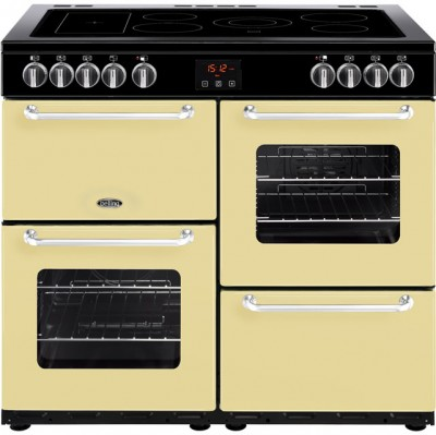 Save £133 at AO on Belling SANDRINGHAM100E 100cm Electric Range Cooker with Ceramic Hob - Cream - A/A Rated