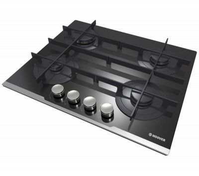 Save £35 at Currys on HOOVER HGV64STCV B Gas Hob - Black, Black