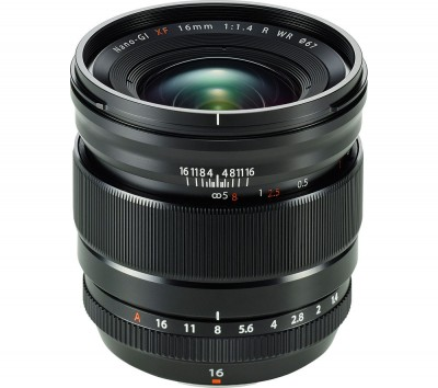 Save £150 at Currys on FUJIFILM Fujinon XF 16 mm f/1.4 R WR Wide-angle Prime Lens