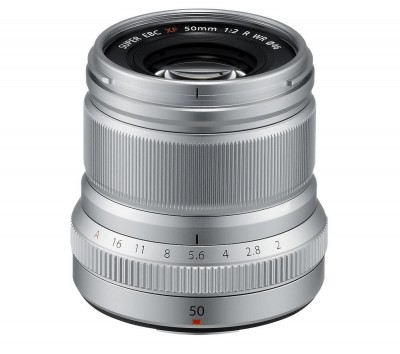 Save £80 at Currys on FUJIFILM Fujinon XF 50 mm f/2 WR Standard Prime Lens, Silver