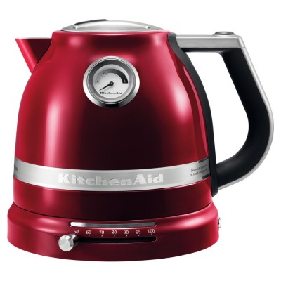 Save £20 at Appliance City on KitchenAid 5KEK1522BCA Artisan Variable Temperature Kettle - CANDY APPLE
