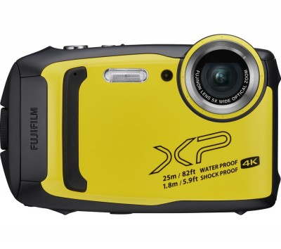Save £20 at Currys on FUJIFILM FinePix XP140 Tough Compact Camera - Yellow, Yellow