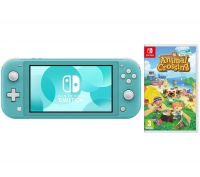 Save £770 at Currys on NINTENDO Switch Lite Turquoise & Animal Crossing: New Horizons Bundle, Turquoise