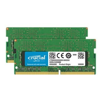 Save £117 at Scan on Crucial 32GB Kit (16GBx2) DDR4 SODIMM 2400MHz Laptop/SFF RAM