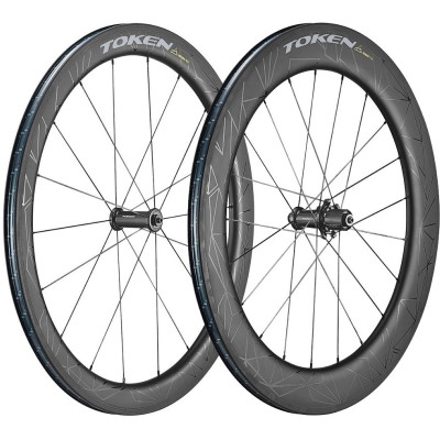 Save £118 at Wiggle on Token Zenith Konax Pro Tri 52mm + 76mm Carbon Wheelset Wheel Sets