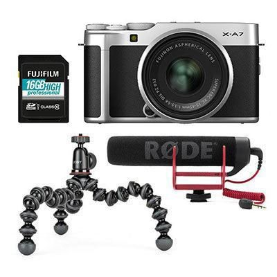 Save £150 at WEX Photo Video on Fujifilm X-A7 Digital Camera with XC 15-45mm Lens Vlogger Kit - Silver